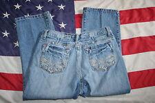 LENA JEANS Blue Jeans Size 12S: dressy/casual/western/fashion/work #4060