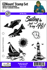 AT THE SEA STAMP SET - 7 EZ Mount Stamps - Dee Gruenig