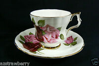 Windsor fine Bone China made in England Pink Roses Tea Cup & Saucer set