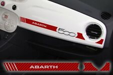 Adesivo Stickers Fiat 500 plancia Abarth Racing Carbon Look Red