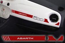 Adesivo Stickers Fiat 500 plancia Abarth RacingCarbon Look Red