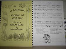 Noten - 40 Kinderlieder für Blockflöte  (1+2-stimmig)
