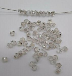 24pc Swarovski Crystal Silver Shade 4,5mm Simplicity 5310 Bead; Angular Facets