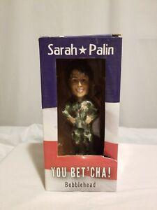 "Sarah Palin Bobble Head ""you betcha"" cammo outfit"