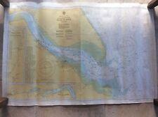 Vintage 1974 Color tabla de plan de mapa de cadena Decca río Humber Hull East Yorkshire