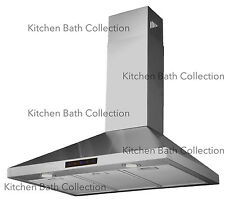 "30"" STAINLESS STEEL WALL RANGE HOOD w/ TOUCH SCREEN & HIGH-END LED LIGHTS #STL75"