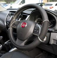 "Leather Look Steering Wheel Covers 15"" Breathable Anti-slip Protector (Black)"