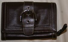 COACH BROWN LEATHER BELT STYLE WALLET