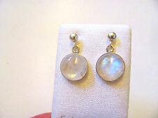 Mondstein blau Ohrhänger- Rainbow Moonstone Earrings 925 Silber E7568