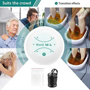 Foot Ionic Detox Bath Machine Spa Basin Health Body Care Cleanse Array Kit UK