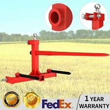 3 Point Hay Bale Spear Hay Mover Trailer Hitch Receiver Cat W/ Gooseneck Ball