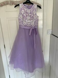 True Bride Lilac Bridesmaid Dress Size 11 (11 Years)