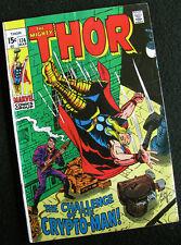Thor 174 (1970) The Crypto-Man! Thomas & Kirby! Nice Book! Large Photos!