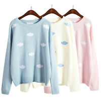 Spring kawaii women's embroidery pullover vintage sweater cardigan cute 3 Colors
