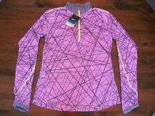 NWT $70 Nike Element 1/2 Half Zip Running Shirt S DriFit Purple Silver New