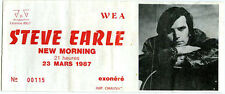 STEVE EARLE  ticket new morning paris 1987
