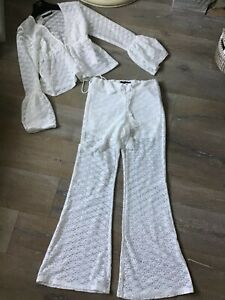 MinkPink Lace trousers & top set Size M