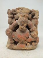 Primitive Old Rare Hindu Religious God Ganesha Hand Carved Temple Worship Statue