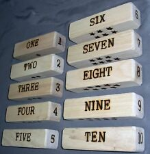 Wood Blocks - Numbers and Languages - English