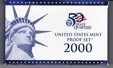 2000-S United States Mint Proof Set 10 coin set in Original Box w/ COA