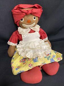 "Georgene Johnny Gruelle's Own ""Beloved Belindy"" Rag Doll Raggedy Ann 1926 18"""