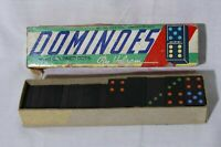 Vintage Halsam Dominoes With Colored Dots 28 pcs Includes Box