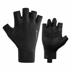 ROCKBROS Half Finger Gloves Fingerless Cycling Gloves Road Bike Black