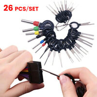 26Pcs Car Terminal Removal Tool Kit Wire connector Pin Release Extractor Puller
