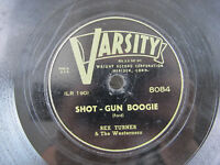 "Rex Turner Westerners Shot Gun Boogie Change 78 RPM Varsity 10"" Shellac Record"