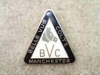 Belle Vue Speedway Manchester Colts Vintage Motorcycle Racing Pin Badge