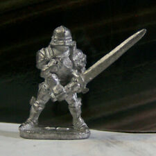 Dungeons & Dragons Rare Vintage Metal Miniature D&D Knight Plate Mail Big Sword