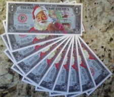 CHRISTMAS MILLIONS SANTA STOCKING STUFFERS LOT OF (10) NOVELTY NOTES GREAT GIFTS