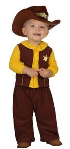 Baby Boys Girls Cowboy Sheriff Wild West Book Day Fancy Dress Costume Outfit