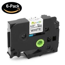 Compatible Brother P-Touch Laminated TZe 231 Label maker Tape Cartridge 6PK 12mm