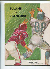 Stanford vs  Tulane   College Football Program Oct 1,1966   MBX66