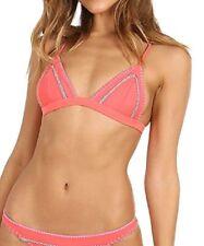Ellejay Women's Rosa Bikini Top with Adjustable Bra Top Coktail Pink Size Large