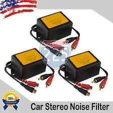3pcs 80 Amp Ground Loop Isolator Noise Filter 2-Channel Gold RCA Connections USA