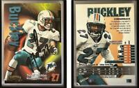 Terrell Buckley Signed 1998 SkyBox Thunder #190 Card Miami Dolphins Auto Autogra