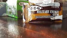 Military Energy Gum - 1PKT Cinnamon 100mg Caffeinated Chewing Gum stay awake MEG