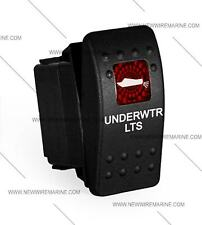 boat Marine Contura II Rocker Switch Carling lighted, Underwater Lts RED lens