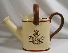"Pfaltzgraff Dishes Village Pat. Watering Can,10"" Pfaltzgraff Ceramic Water Can"