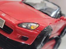 1/18 HONDA S2000 CUSTOM ONE-OFF WATANABE RIMS FENDER FLARES WIDEBODY RED AP1