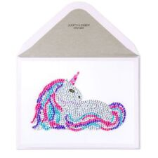 "PAPYRUS BLANK GREETING CARD  ""AMAZING"" Gemmed Unicorn Card Retail $12.95"