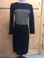 BOY BY BAND OF OUTSIDERS Lucy Liu Striped Boatneck Dress Size 3 LG/8 (C645)