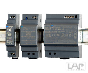 HDR MeanWell Hutschienen Netzteil Stromversorgung Trafo LED DIN 5V 12V 24V 48V