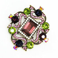 Betsey Johnson Jewelry Vintage Crystal Rhinestone Charm Women's Brooch Pin Gift