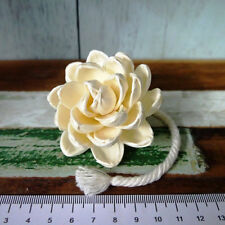 8 Lotus Sola Wood Diffuser Flowers 6 cm Dia. with cotton rope