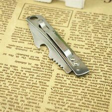 Portable EDC Pocket knife Stainless steel folding knife Clip Buckle Beer Opener