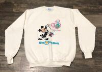 Vtg Mickey Mouse Walt Disney World 20 Magical Years Anniversary Sweatshirt Large