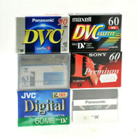 6x JVC MINI DV DIGITAL VIDEO CAMCORDER TAPE / CASSETTE - SUPERB QUALITY - NEW